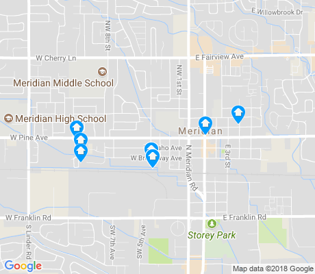 map of Old Town Meridian apartments for rent