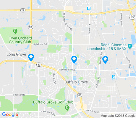 map of Buffalo Grove apartments for rent