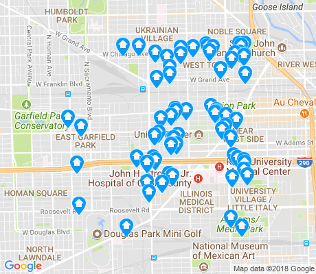 map of 60612 apartments for rent