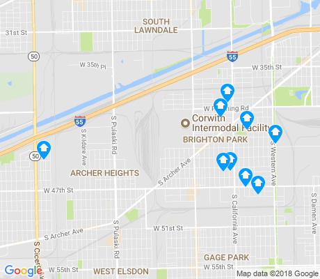 map of 60632 apartments for rent