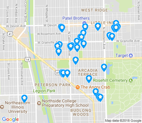 map of 60659 apartments for rent