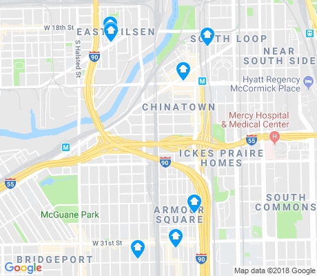 map of Armour Square apartments for rent