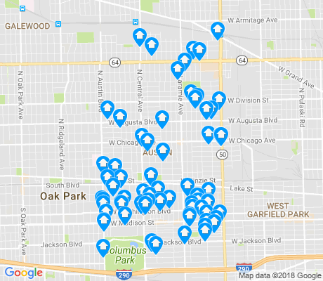 map of Austin apartments for rent