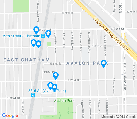 map of Avalon Park apartments for rent