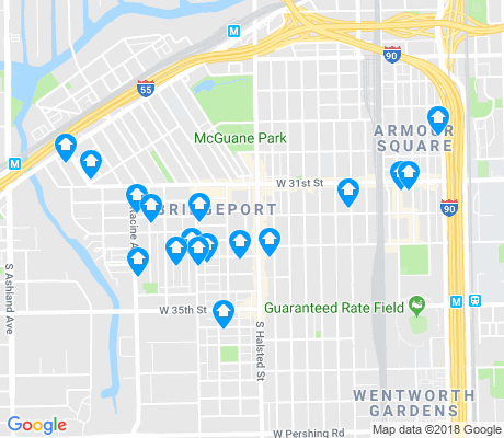 map of Bridgeport apartments for rent