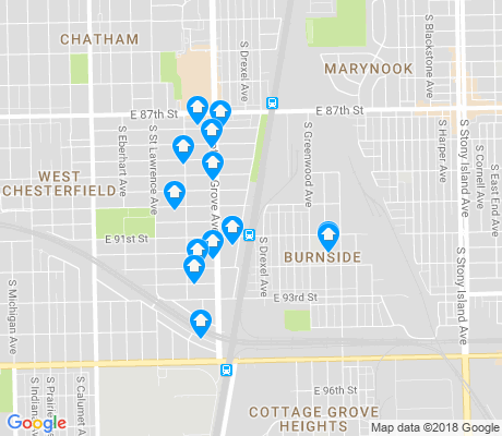 map of Burnside apartments for rent