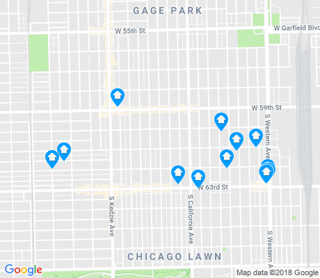 map of Chicago Lawn apartments for rent