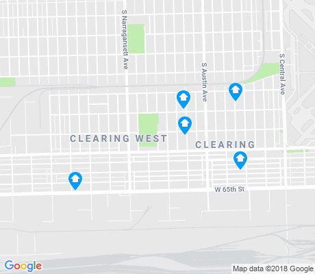 map of Clearing apartments for rent
