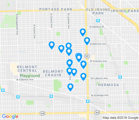 map of Cragin apartments for rent