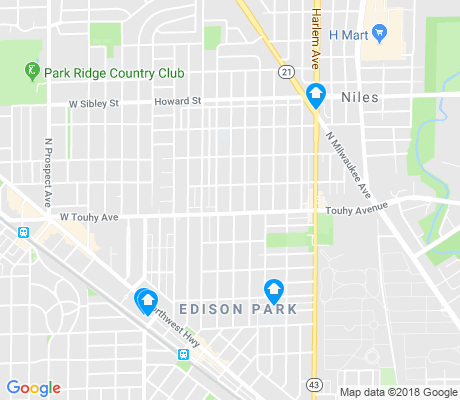 map of Edison Park apartments for rent