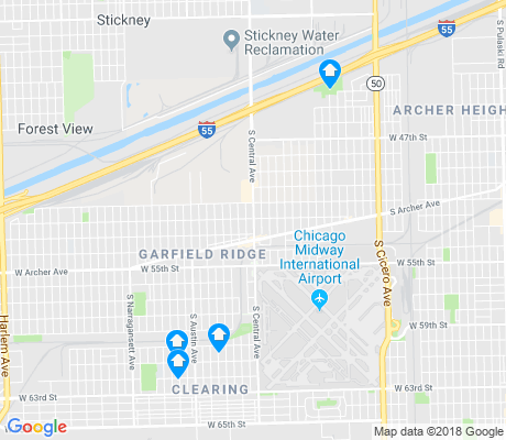map of Garfield Ridge apartments for rent
