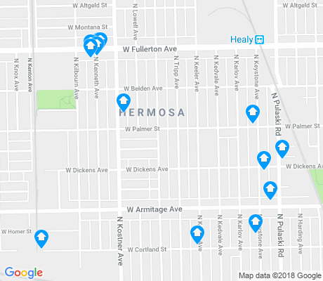 map of Hermosa apartments for rent