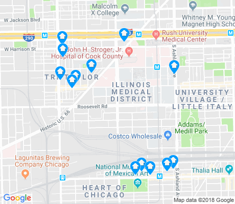 map of Illinois Medical District apartments for rent