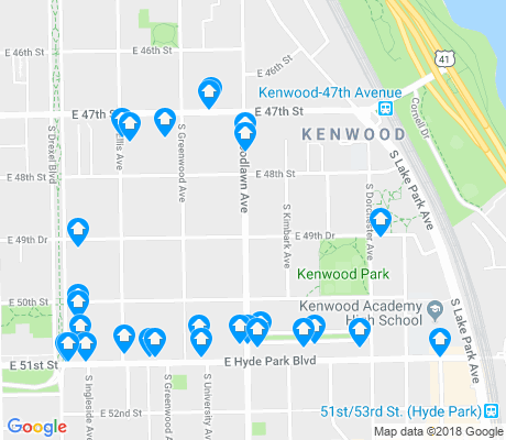 map of Kenwood apartments for rent