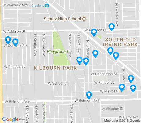 map of Kilbourn Park apartments for rent