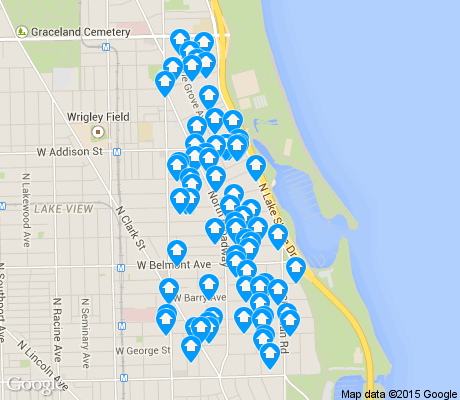 map of Lake View East apartments for rent
