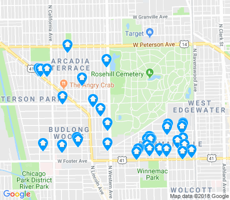 map of Lincoln Square apartments for rent