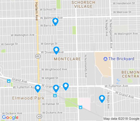 map of Montclare apartments for rent