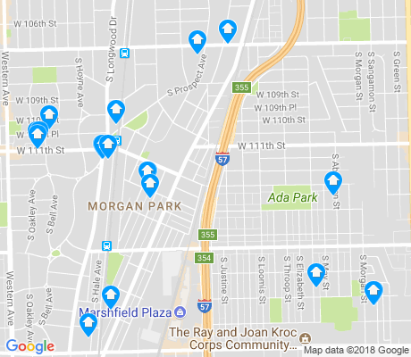 map of Morgan Park apartments for rent