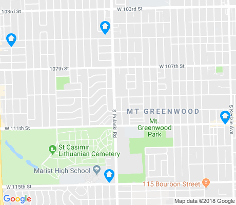 map of Mount Greenwood apartments for rent