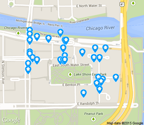map of Near East Side apartments for rent