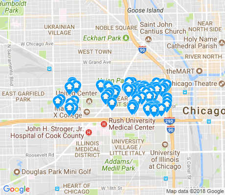 map of Near West Side apartments for rent