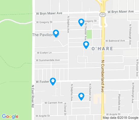map of O'Hare apartments for rent