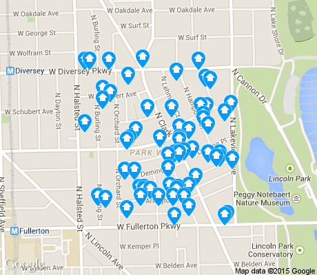 map of Park West apartments for rent