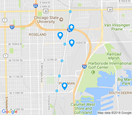 map of Pullman apartments for rent