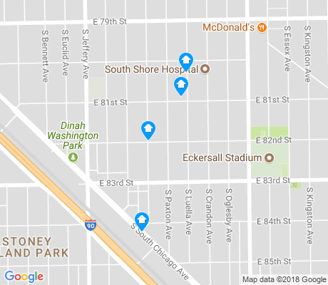 map of Stony Island Park apartments for rent