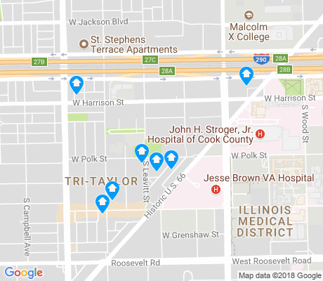 map of Tri-Taylor apartments for rent