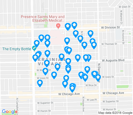 map of Ukrainian Village apartments for rent
