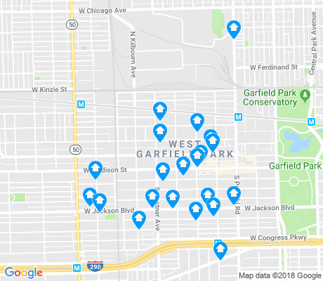 map of West Garfield Park apartments for rent