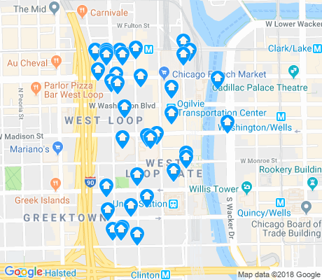 map of West Loop apartments for rent