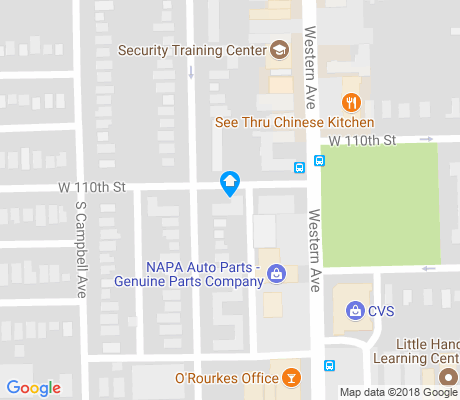 map of West Morgan Park apartments for rent