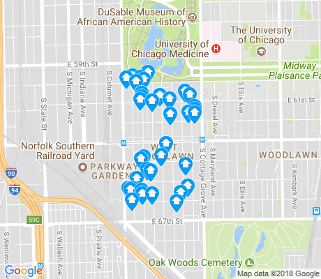 map of West Woodlawn apartments for rent