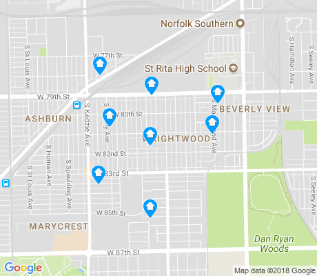 map of Wrightwood apartments for rent