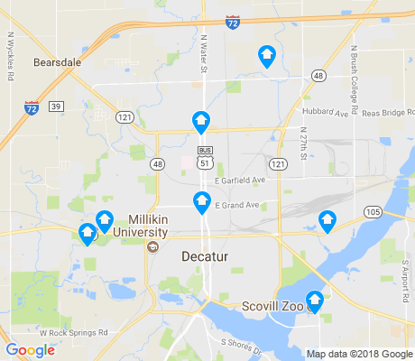 map of Decatur apartments for rent