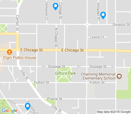 map of Gifford Park apartments for rent