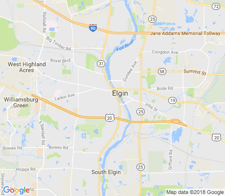 map of Near West Elgin apartments for rent