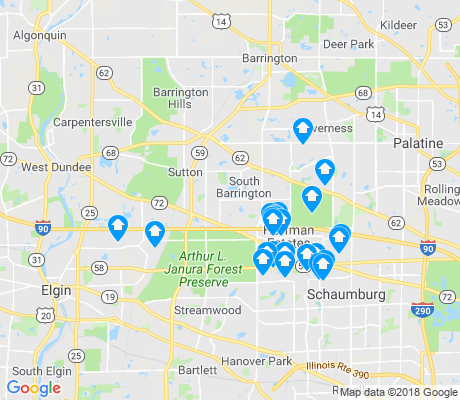 map of Hoffman Estates apartments for rent