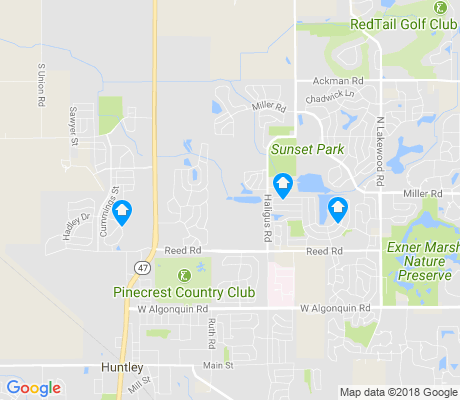 map of Huntley apartments for rent
