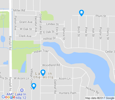 map of Lake In The Hills Estates apartments for rent