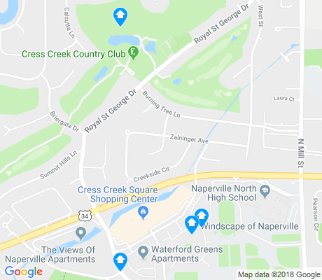 map of Cress Creek apartments for rent