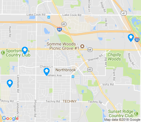 map of Northbrook apartments for rent