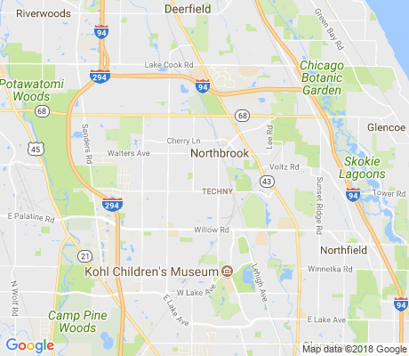 map of Northbrook Park apartments for rent