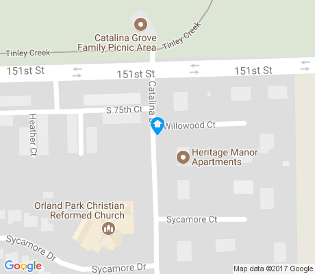 map of Catalina apartments for rent