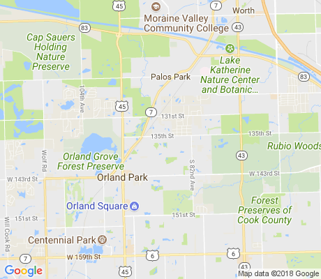 map of Orland on the Green apartments for rent