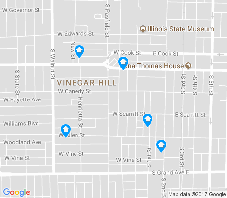 map of Vinegar Hill apartments for rent