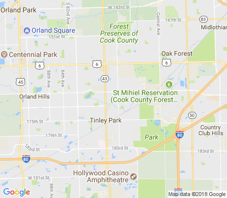 map of Oak Park Avenue Estates apartments for rent